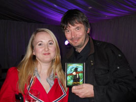 Clare with Ian Rankin